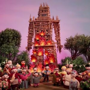 Radiohead Burn The Witch wicker man screen shot