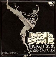The Jean Genie single cover 1972