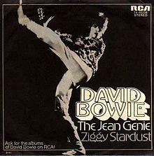 The Jean Genie single cover 1972