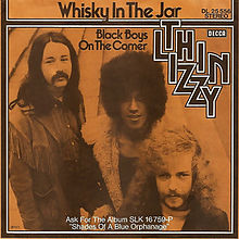 Thin Lizzy Whiskey In The Jar single cover 1972